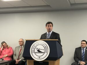 f3f68f51bfc041 St. Louis County Executive Steve Stenger speaks at the Urban League of  Metropolitan St. Louis before signing an executive order removing questions  about a ...