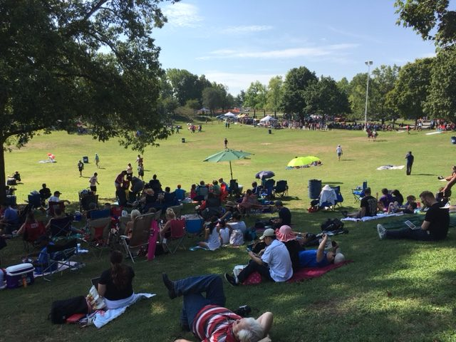 Thousands enjoy eclipse at Jefferson Barracks Park – Clayton