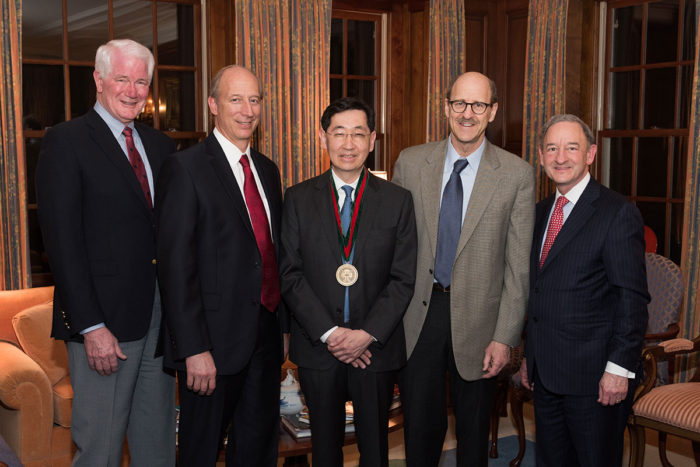 online retailer 38309 7ee7f Jin-Moo Lee, MD, PhD, (center) has been named the Norman J. Stupp Professor  of Neurology in recognition of his contributions to stroke research.